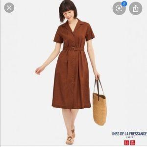Uniqlo IDLF Linen Cotton Short Sleeve Dress